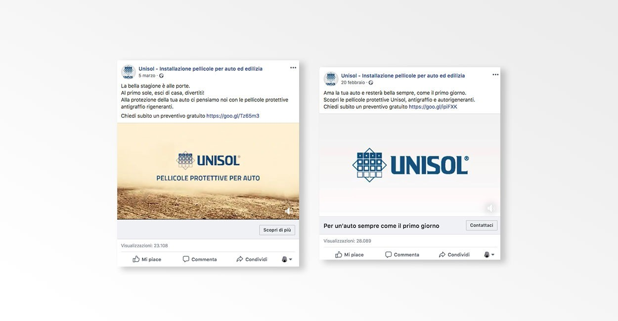 Settore Social Media Marketing per Unisol