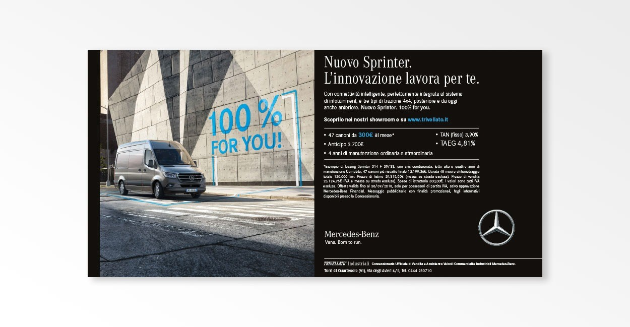 Settore Advertising per Trivellato Industriali
