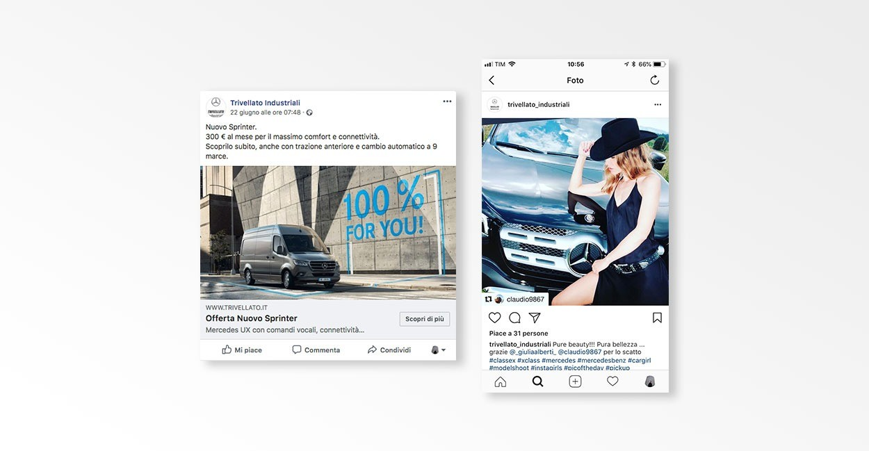 Settore Social Media Marketing per Trivellato Industriali